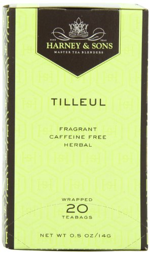 Harney and Sons Premium Tea Bags, Tilleul, 20 Count