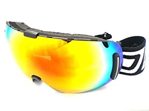 Dirty Dog Goggles 54090 Red Blizzard Frameless Visor Goggles Lens Mirrored Size