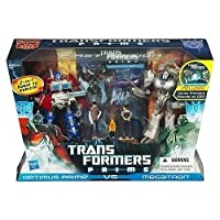 Transformers Prime First Edition Action Figure Set - Optimus Prime vs Megatron with DVD - Entertainment Pack Limited Edition by Hasbro
