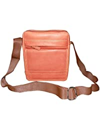 Style98 Premium Quality Leather Travel Messenger/Sling Bag For Men,Women,Boys & Girls - Brown - B01H8Y019A