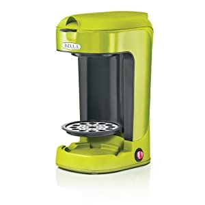 Amazon.com: BELLA 13784 One Scoop One Cup Coffee Maker, Lime Green: Single Serve Brewing ...