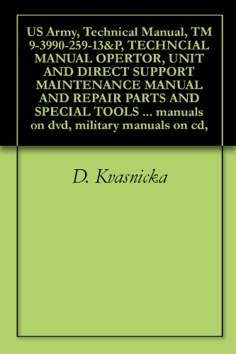 US Army, Technical Manual, TM 9-3990-259-13&P, TECHNCIAL MANUAL OPERTOR, UNIT AND DIRECT SUPPORT MAINTENANCE MANUAL AND REPAIR PARTS AND SPECIAL TOOLS ... manuals on dvd, military manuals on cd,