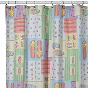 Shower Curtains With Birds Flip Flop Tub