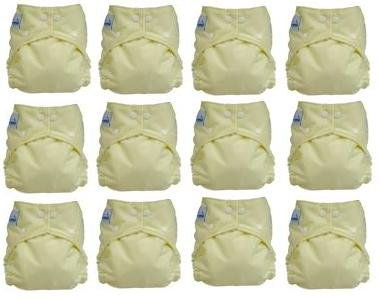Fuzzibunz Perfect Size Diapers -12Pack Gender Neutral Colors Small