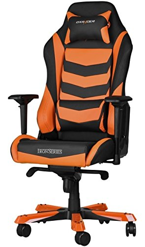 DX Racer Iron Gaming Chair - Orange and Black Stripe - OH/IS166/NO