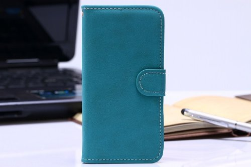 "Luv You Iphone 6 4.7"" Case,Blue Vintage Trend Retro Style Lv-Yo Design Style Beautiful High Quality Luxury Premium Pu Leather Feature Flip Magnet Wallet Stand Smart Case Cover Protective With Id Credit Card Holder Slots Cute Case Fit For Apple Iphone Veri"