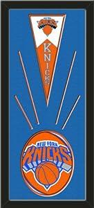 New York Knicks Wool Felt Mini Pennant & New York Knicks Team Logo Photo - Framed... by Art and More, Davenport, IA