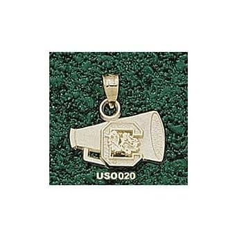 South Carolina Gamecocks C Megaphone Pendant - 14KT Gold Jewelry by Logo Art