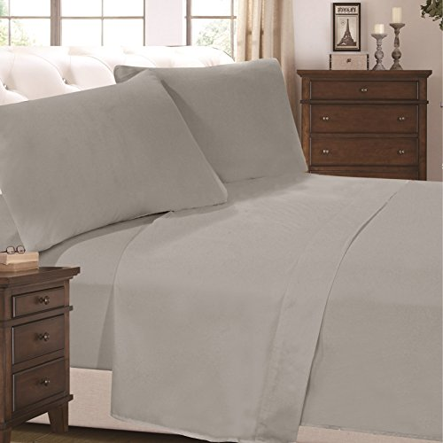 6 Piece Super Soft Luxurious Comfortable Bed Sheet Set (King, Grey) by Cheer Collection (Marvel Bedding King Sheets compare prices)