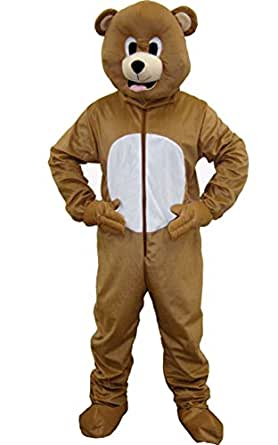Dress Up America Bear Mascot Costume Brown Bear