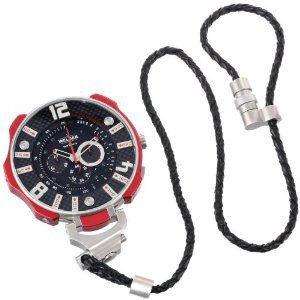 腕時計 ウェルダー Welder by U-boat K41 Oversized Pocket Watch Chronograph Steel Mens Red K41-100【並行輸入品】