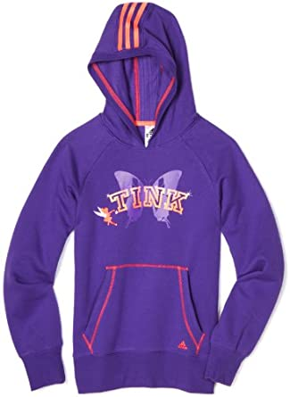 (降价)阿迪达斯Adidas Girls Disney Tinkerbell 迪士尼奇妙仙子连帽外套紫色$21.87