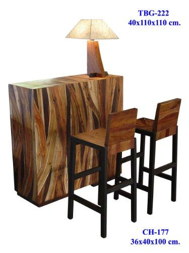 Mixed Wood Mango, Teak, Red, Monkey Wood Bar Cafe Set