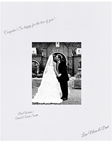 16x20 White Signature and Autograph Picture Mat for 8x10 picture. Weddings, Baby Showers, Reunions (Signature Board compare prices)