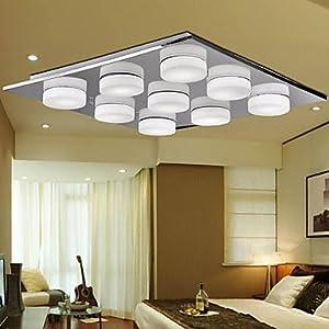 3w contemporary glass led deckenleuchte mit 9 leuchten. Black Bedroom Furniture Sets. Home Design Ideas