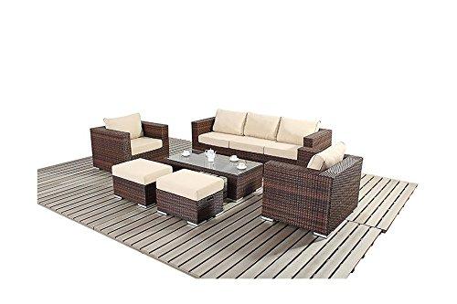 Sydney, rustikal, groß, Sofa Gartenmöbel Set
