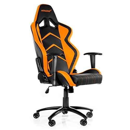 AK Racing Player PC Gaming Chair - Black and Orange - AK-K6014-BO