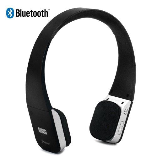 August EP630 Bluetooth Wireless Stereo Headphones - Soft Cushioned Headset with built-in Microphone and Rechargeable Battery - Compatible with Cell Phones, iPhone, iPad, Laptops, Tablets, Smartphones etc. August Bluetooth Headsets autotags B00BY33EKU