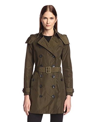 Burberry Women's Showerproof Trench Coat with Hood