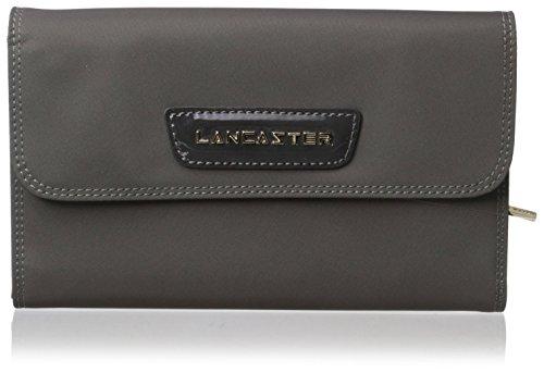 lancaster-paris-womens-nylon-patent-wallet-grey