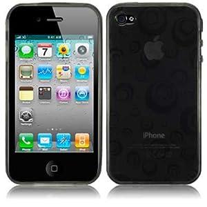 iPhone 4S / iPhone 4G Spiral Design Gel Case - Black