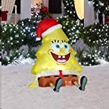 2011 3.5' Nickelodeon SpongeBob Squarepants Christmas Tree Airblown Inflatable by Gemmy Sponge Bob
