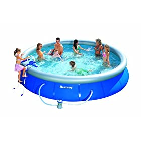 Bestway 15-Foot-by-36-Inch Fast Set Round Pool Set: Home Improvement