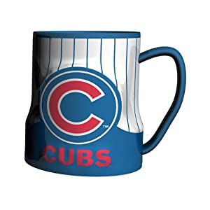 MLB Chicago Cubs Sculpted Game Time Coffee Mug, 18-Ounce