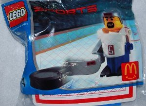 4 blocks toys ( Lego ) Sports Hockey # McDonalds Happy meal 2004 Lego ( parallel imports )