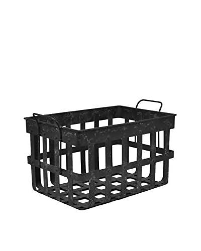 Three Hands Metal Basket, Black