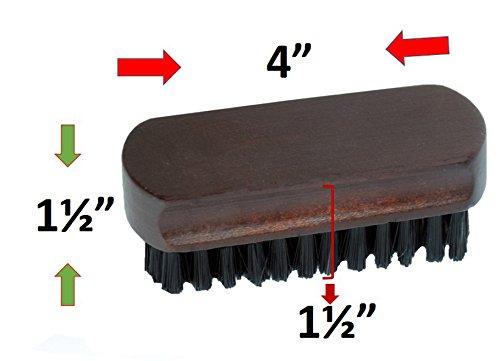 Smartek Original Wood Lint Pet Hair Dust Remover Clothes Brush (Horse Hair Scrub Brush compare prices)