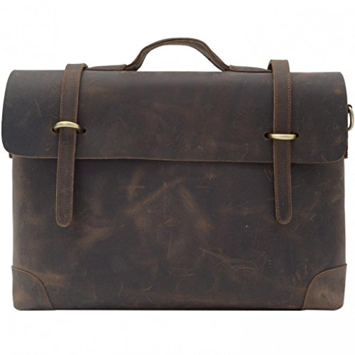 Mige Intl Men's Genuine Cow Leather Briefcase