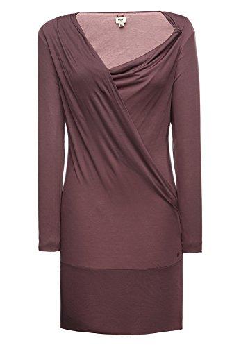 khujo -  Vestito  - Vestito  - Maniche lunghe  - Donna rot (489 MAUVE) X-Large