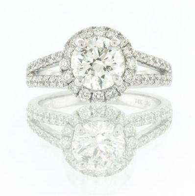 2.11ct Round Brilliant Cut Diamond Engagement