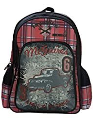 Genius Limited Edition Polyester 41 Cms Black And Red Softsided Children's Backpack (MCGUIRE 16 BLACK/RED)