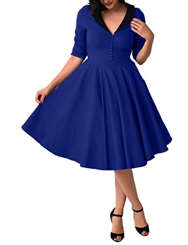 GownTown-1950s-Vintage-Dresses-Swing-Stretchy-Dresses