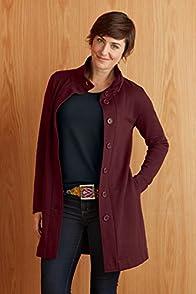 Fair Indigo Organic Fleece Funnel Neck Jacket