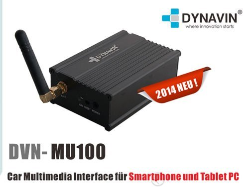 Dynavin dVN-interface multimédia mU100 et airplay dLNA miracast pour iPhone et android
