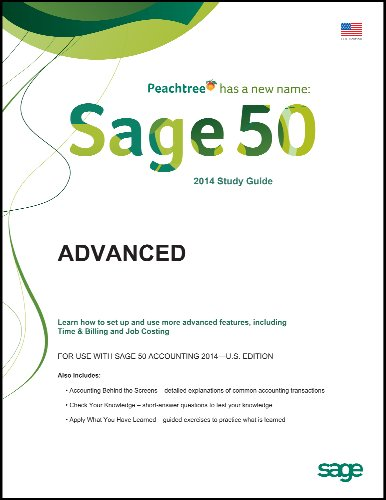 Sage 50 2014 Advanced Self-study Guides for Sage