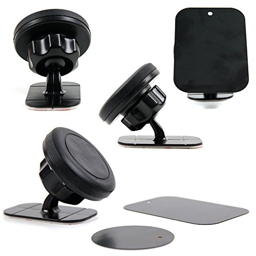 iTALKonline iHOLDER Apple iPhone SE Black COMPACT 360 Degrees Rotating In Car Case Compatible Wind Screen Dashboard Suction Mount Holder