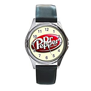 New Wrist Watches XKHD032 NEW* Optional Design DR PEPPER Soft Drinks Round Metal WATCH Leatherban d