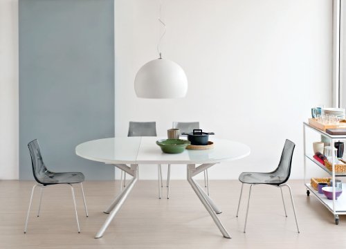 Tavolo Allungabile Meteor O&G Calligaris Vetro Bianco