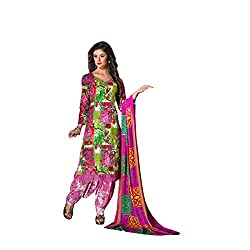 Rajnandini Women's Multi colour pure cotton Printed Unstitched salwar suit Dress Material with Naznin Duppta (Free Size)