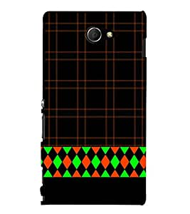 Diamond Design 3D Hard Polycarbonate Designer Back Case Cover for Sony Xperia M2 Dual D2302 :: Sony Xperia M2