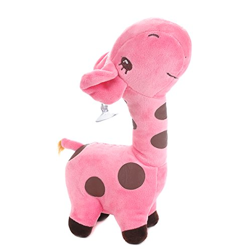 Dear Giraffe Plush Stuffed Doll Cute Soft Zoo Animals With Sucker Toy Birthday Gift (18cm/7'', (Jumbo White Bunny Kit)