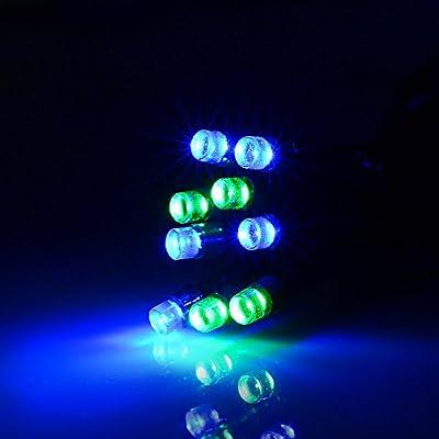 [DIY PANEL] lederTEK Solar Powered Christmas Lights Blue & Green 200 LED 72ft 8 Modes Decorative Fairy String Light for Xmas Tree, Holiday Decorations, Garden, Patio, Home, Outdoor, Lawn, Outside