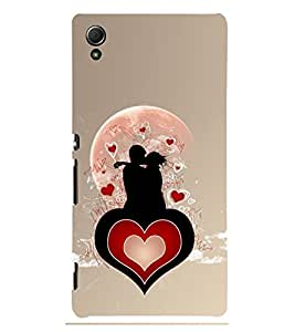 love and Kiss 3D Hard Polycarbonate Designer Back Case Cover for Sony Xperia Z3+ :: Sony Xperia Z3 Plus :: Sony Xperia Z3+ dual :: Sony Xperia Z3 Plus E6533 E6553 :: Sony Xperia Z4