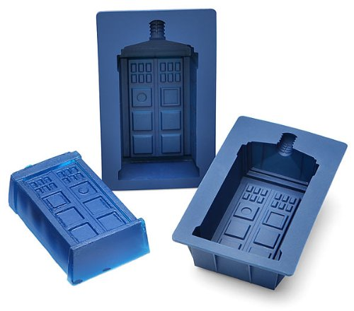 Best Buy! Doctor Who TARDIS Gelatin Mold Set of 2 - Dr Who TARDIS Silicone Mold Set - Each Mold Hold...