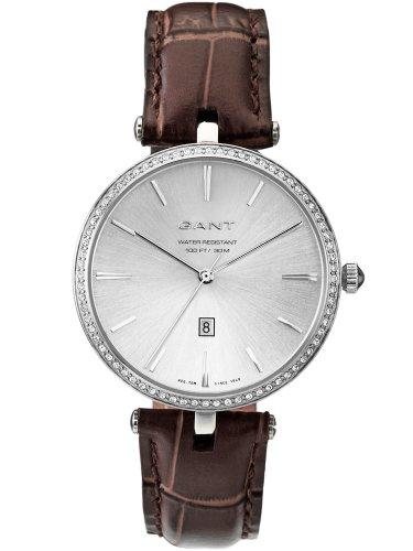GANT W70282 - Reloj analógico de cuarzo para mujer con correa de piel, color marrón