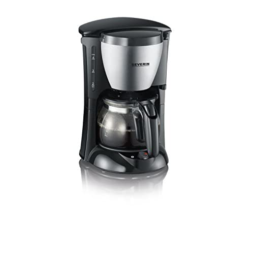 Severin KA 4805 4-Cup Coffee Maker, 0.46 Litre, 650 W, Black Stainless Steel